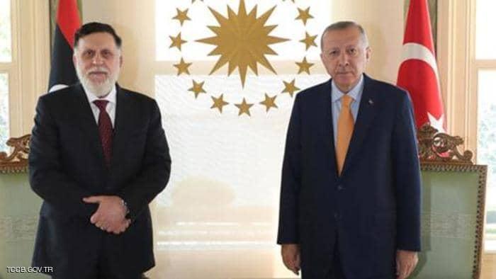 أول تعليق من أردوغان على استقالة السراج