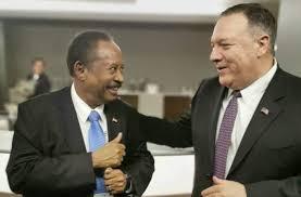 """بومبيو يثنى على جهود """"حمدوك"""" بشان التطبيع مع اسرائيل"""