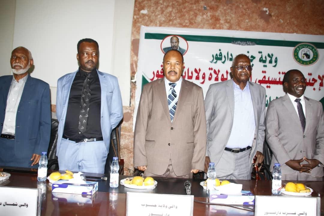 السودان : ولاة ولايات دارفور  يؤكدون اهمية التنسيق الامني والاجتماعي