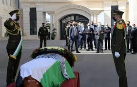 تشييع جثمان صائب عريقات في ذكرى رحيل ياسر عرفات