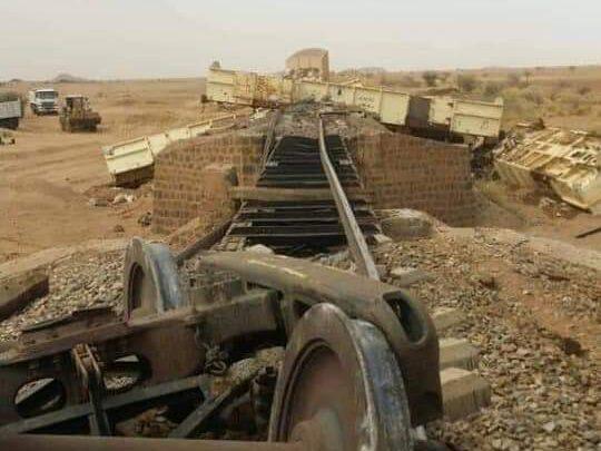 تخريب متعمدة في السكة حديد يعطل قطار ثوار عطبرة